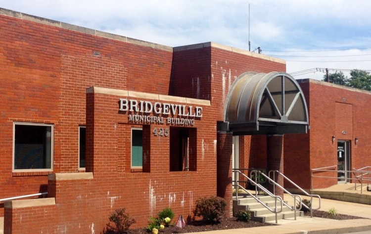 The Bridgeville municipal office, as seen from Bower Hill Road