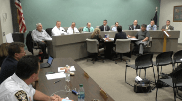 Bridgeville Police Chief Chad King talks to council at the July 11, 2016 borough council meeting