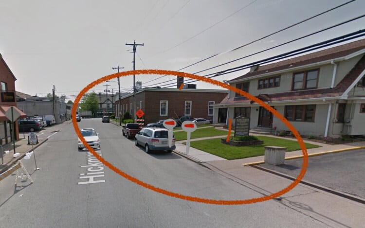 Bridgeville.org artist rendering of proposed Hickman Street parking meters (not drawn to scale).