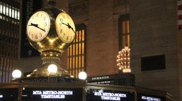 The main clock at Grand Central Station in New York City