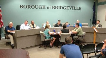 bridgeville borough council discusses local issues during its July 2017 meeting