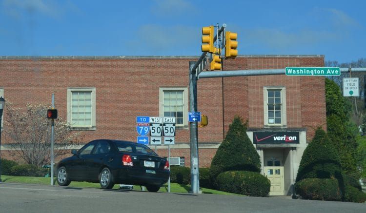 The intersection of Washington Avenue and Bower Hill Road in Bridgeville.