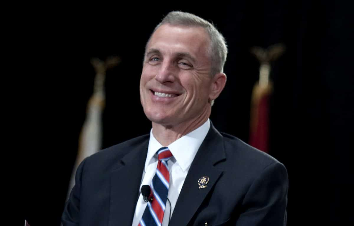 Former U.S. Congressman Tim Murphy at a town hall meeting in Pittsburgh in 2010