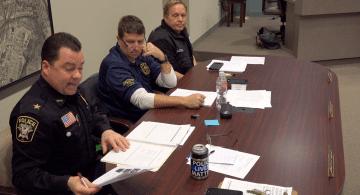 Bridgeville Police Chief Chad King discusses 2017 crime statistics at the Feb. 12, 2018 Bridgeville Borough Council Meeting
