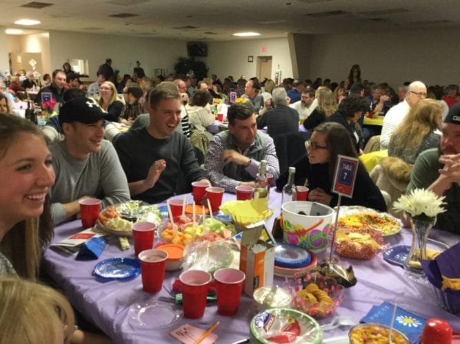 A trivia team during the 2017 Night of Trivia fundraiser for the Chartiers Valley Education Foundation