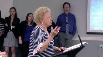 A Chartiers Valley residents speaks at the May 22, 2018 school board meeting.