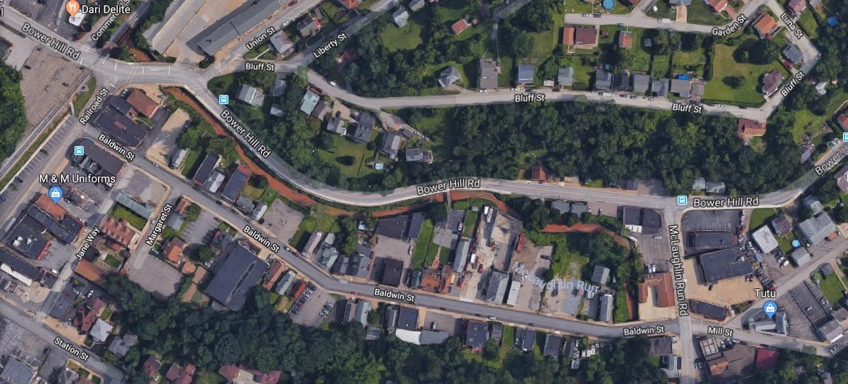 Bridgeville's Baldwin Street corridor as pictured on Google Maps in Sept. 2018.