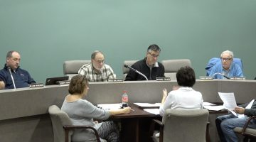 Members of Bridgeville Borough Council discuss the community's 2019 budget at a Nov. 20, 2018 meeting.