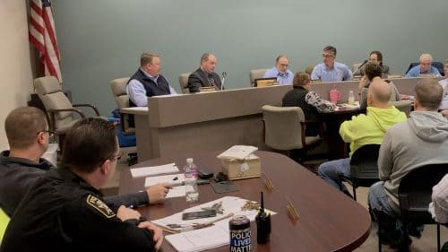 Wide view of Bridgeville Borough Council at its Jan. 14, 2019 meeting