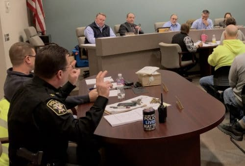 Bridgeville Police Chief Chad King presents the borough's 2018 year-end crime stats to borough council at the Jan. 2019 council meeting.