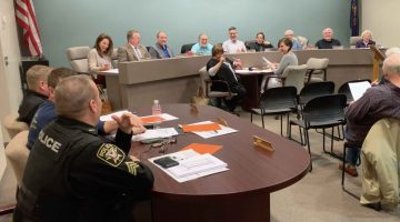 Bridgeville Borough councilmembers at their March 11, 2019 meeting