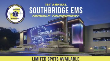 South Bridge EMS is hosting a fundraiser at TopGolf Pittsburgh on April 11, 2019.