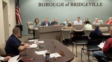 Bridgeville Volunteer Fire Department Chief Bill Chilleo speaks at the April 11, 2019 borough council meeting.