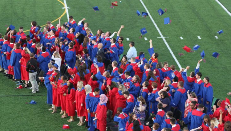 Chartiers Valley's 2017 commencement ceremony. Photo via Chartiers Valley / Flickr.com