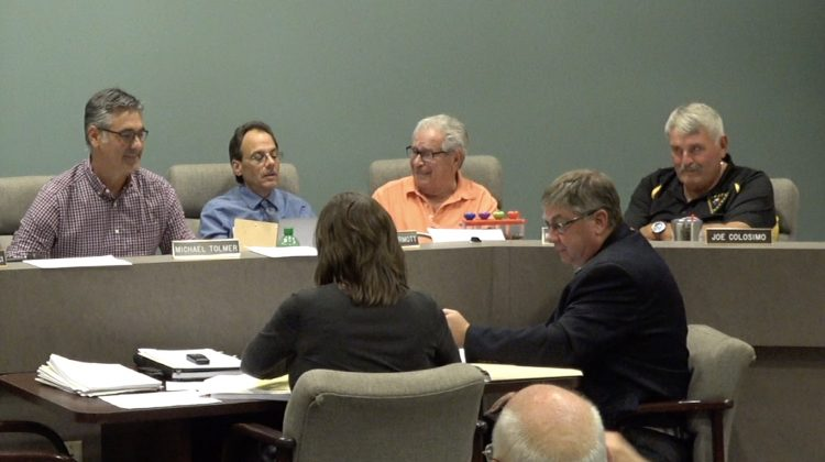 Bridgeville Borough Councilmembers discuss engineering issues at the September 2019 council meeting.