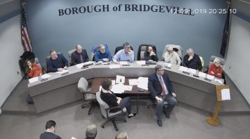 Bridgeville Borough Council during the Dec. 9 2019 meeting
