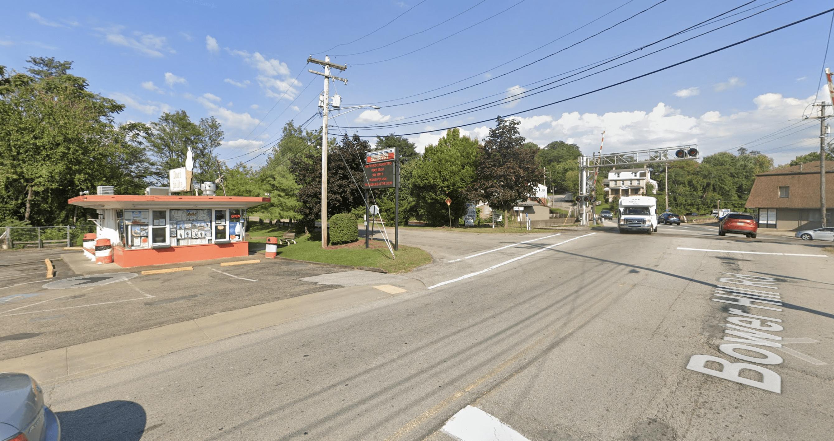 Crossing to street Bower Hill Road near the Dari-Delite in Bridgeville is always an adventure.