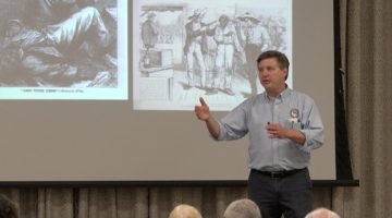 Author Todd DePastino speaks about the wild history of American elections during the June 2020 meeting of the Bridgeville Area Historical Society.