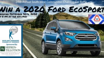 South West Communities Chamber Car Raffle Flyer