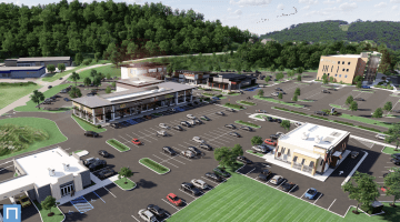 Artist's rendering of The Piazza -- a restaurant complex planned for the former Star City movie theater site in South Fayette Township