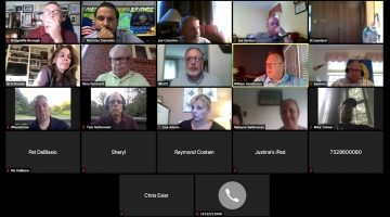 Screenshot of the Aug. 10, 2020 Bridgeville Borough Council meeting