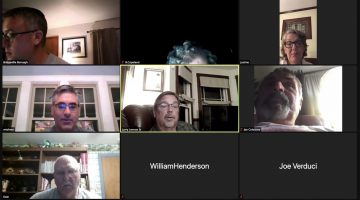 The Bridgeville planning commission during it's Sept. 28, 2020 meeting, held via Zoom web conference