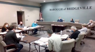 Bridgeville Borough councilmembers during their Oct. 12, 2020 meeting