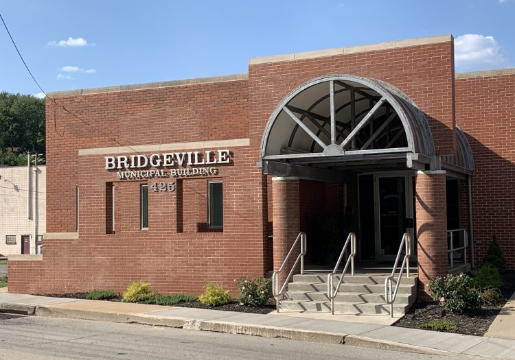 The Bridgeville municipal building at 425 Bower Hill Road