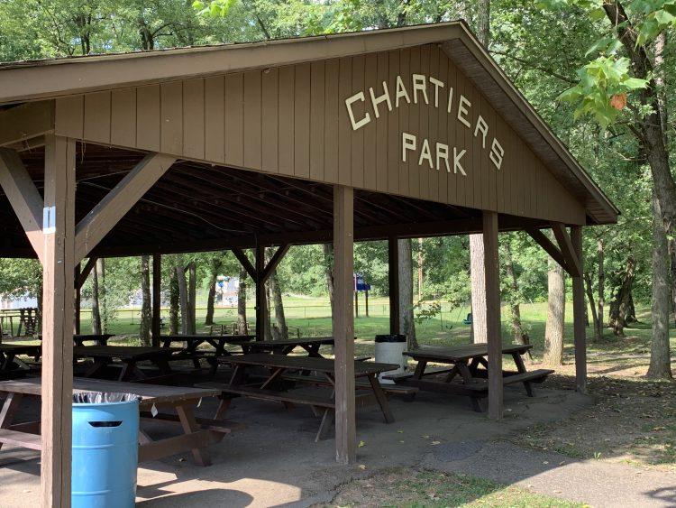 A pavilion at Chartiers Park