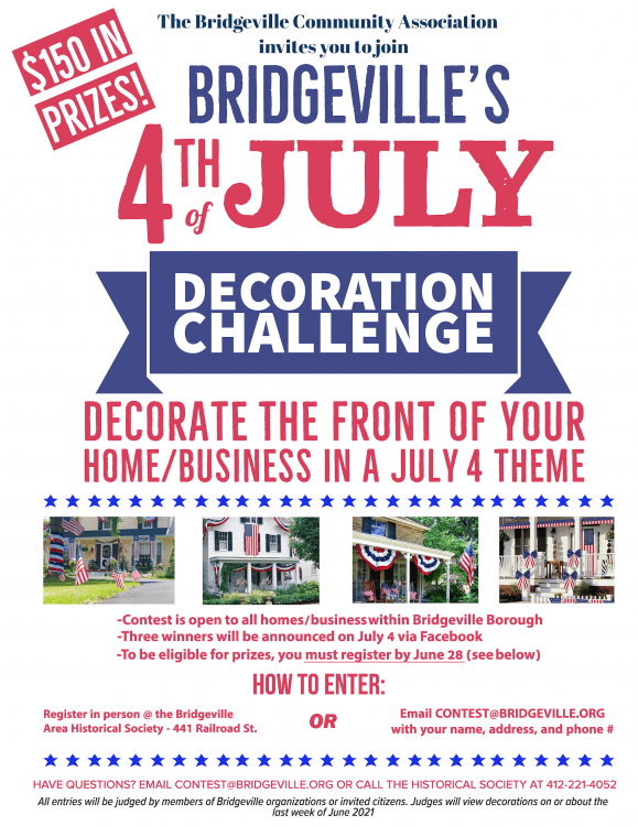 Rules for Bridgeville's 4th of July decoration contest