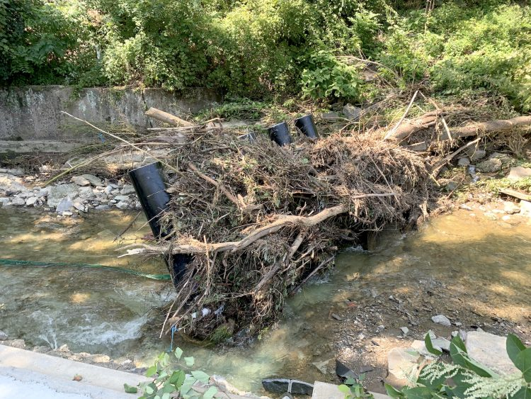 The McLaughlin Park trash rack on Thursday, Sept. 2, 2021.