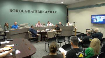 Bridgeville Borough Council's October 2021 meeting